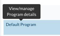 Manage programs