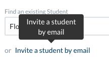 Adding new student to invite